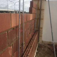 Concrete  Masonry Brabham Brickwork Cavity Filled Noisewall Render Paint  1