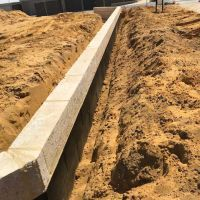 Concrete  Masonry Yanchep Golf Course Cantilever Wall Concrete Footing Reconstituted Limestone 4