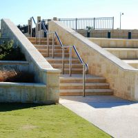 Streetscapes Herron Park Drainage Sump Terrace Walls Stairs  6