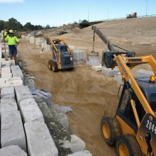 Great-eastern-roe-highway-interchange-scaffolding-limestone-retaining-walls-bridge-on-off-ramp-Main-Roads-WA-MRWA-5.jpg